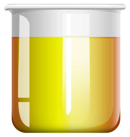 substances: Chemical mixture in beaker illustration Illustration