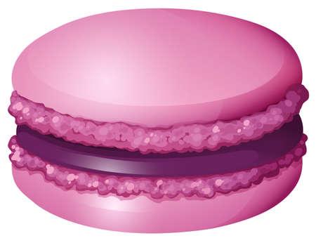 macaron: Lila Farbe macaron allein illustration