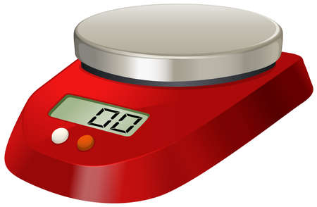 digital numbers: Lab scale with digital number illustration