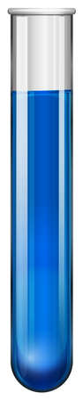 mixtures: Blue liquid in test tube illustration