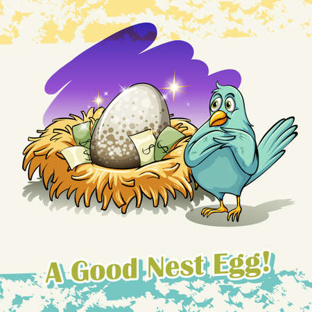 saying: Old saying good nest egg illustration