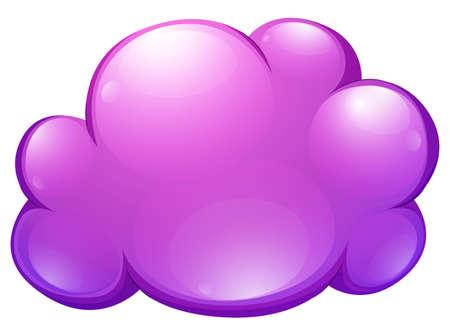 shinning: Purple cloud on white illustration Illustration