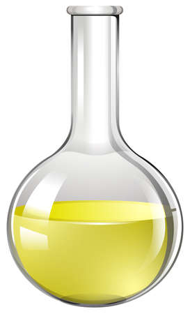 biology lab: Yellow liquid in test tube illustration
