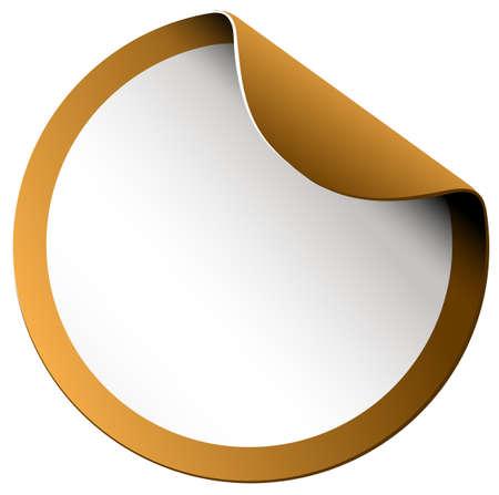 blank tag: Golden color border sticker illustration Illustration