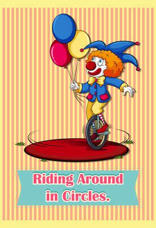 saying: Old saying riding around in circles illustration