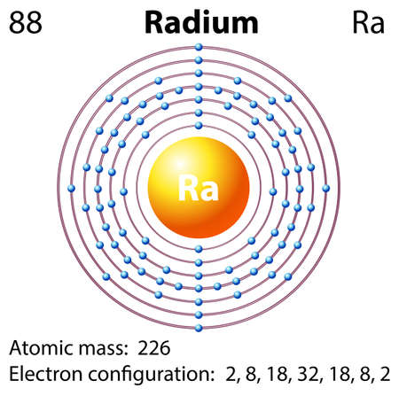 radium: Diagram representation of the element radium illustration