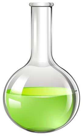 mixtures: Green liquid in glass tube illustration Illustration