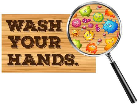 manos limpias: Lávese las manos ilustración de la muestra Vectores