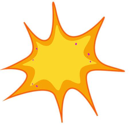bacteria: Yellow bacteria on white illustration