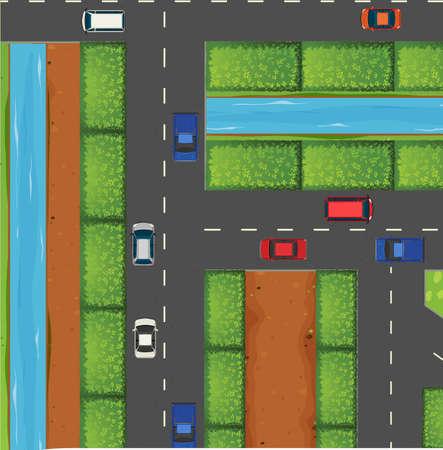 traffic: Cars on the road illustration Illustration