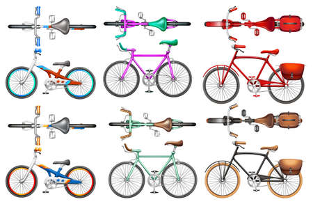 biking: Different kind of bicycles illustration