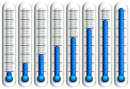 boiling point: Thermometer with blue liquid illustration