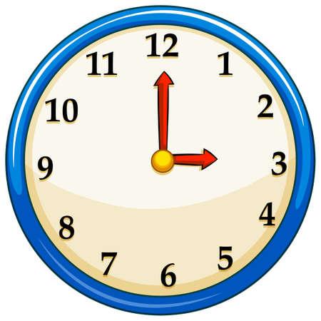 Rounc clock with red needles illustration 일러스트