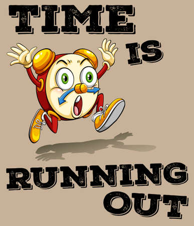 Saying time is running out illustration Banco de Imagens - 44953000