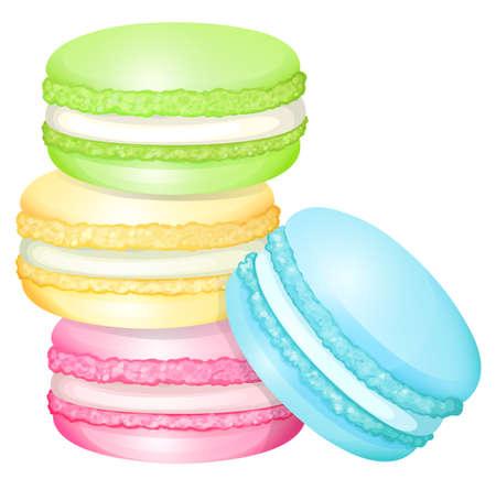 Stapel kleurrijke macaron illustratie Stock Illustratie