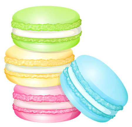 Stack of colorful macaron illustration