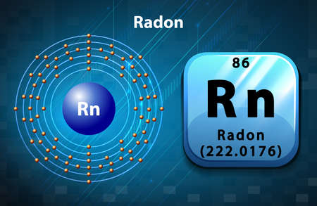 radon: Periodic symbol and diagram of Radon illustration Illustration