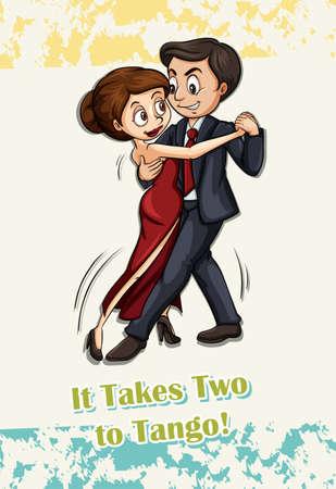 tango: Takes two to tango illustration