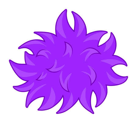 bacteria: Purple fluffy ball bacteria illustration Illustration