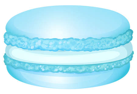 buttery: Blue macaron with cream illustration Illustration