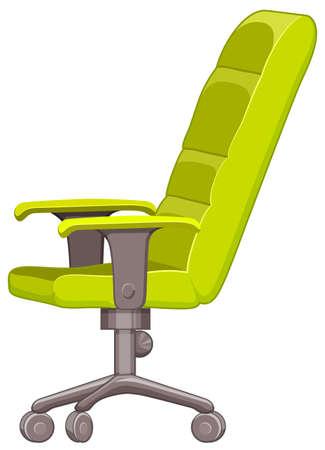 sedia ufficio: Sedia da ufficio in colore verde illustrazione