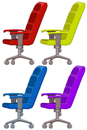 adjustable: Armchair in four colors illustration