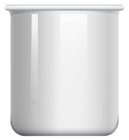 on white: Glass beaker on white illustration