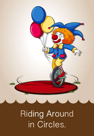 idiom: Idiom riding around in circles illustration