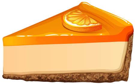 cheesecake: Orange cheesecake with jam  illustration