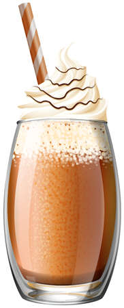 whipped cream: Smoothie with whipped cream illustration