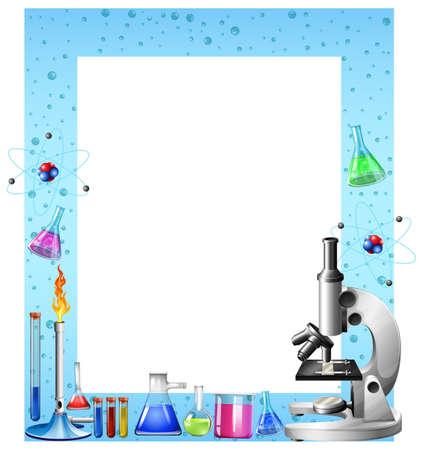 科学ツールおよび容器の図