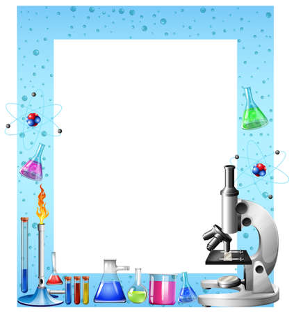 mixtures: Science tools and containers  illustration