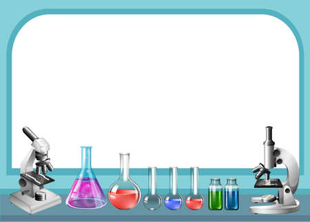 Science tool and frame illustration