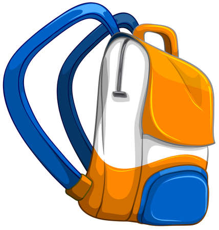 school illustration: Close up school bag  illustration Illustration