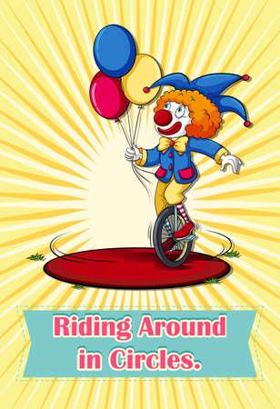 idiom: Idiom riding around in circles illustration