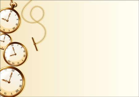 brown wallpaper: Brown wallpaper with retro watch design illustration