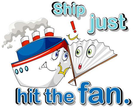 hit: Ship just hit the fan illustration