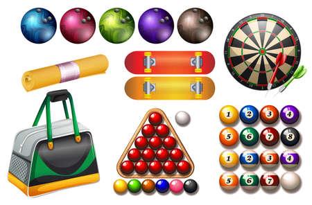 sport equipment: Sport and game equipment illustration