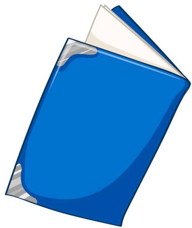 blue book: Blue book on white illustration Illustration
