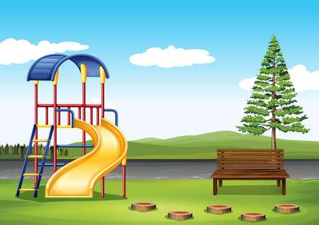 Playground ing the park illustration