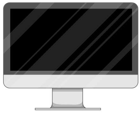 screen: Computer screen on white illustration