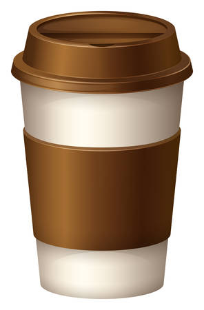 background coffee: Coffee cup with brown lid illustration