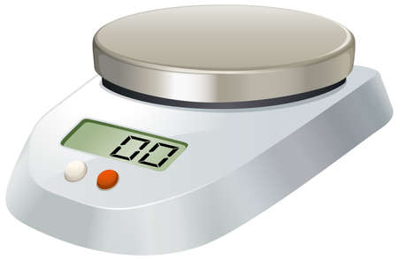 weighing scale: Lab scale with metal plate illustration