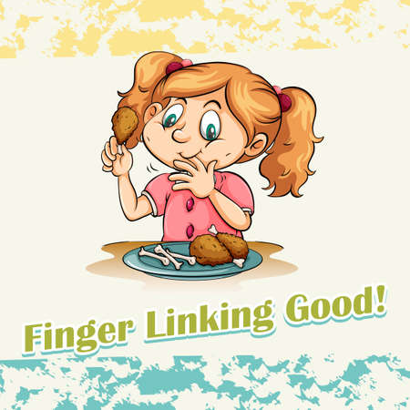 idiom: Idiom finger linking good illustration