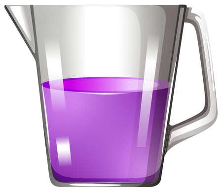 substances: Purple liquid in beaker illustration