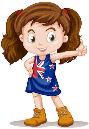 british girl: British girl having thumb up illustration