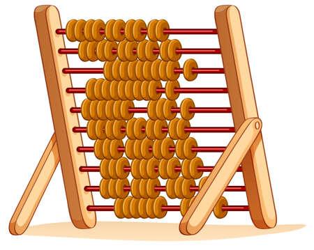 abaco: �baco de madera para la ilustraci�n de c�lculo Vectores