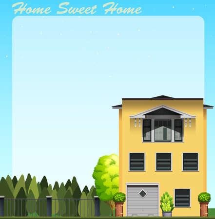 daytime: Home sweet home at daytime illustration