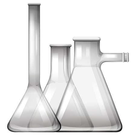 beaker: Vidrio vacío vasos y frascos ilustración