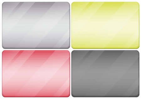 metal textures: Metal textures in four colors illustration